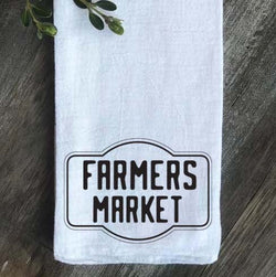 Farmers Market Floursack Kitchen Towel - Returning Grace Designs