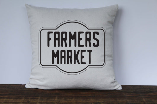 Farmers Market Vintage Graphic Pillow Cover - Returning Grace Designs