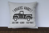 Farmers Market Vintage Truck Pillow Cover - Returning Grace Designs