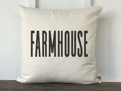 Farmhouse Block Pillow Cover - Returning Grace Designs