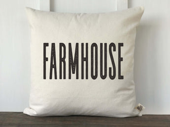 Farmhouse Block Font Pillow Cover - Returning Grace Designs
