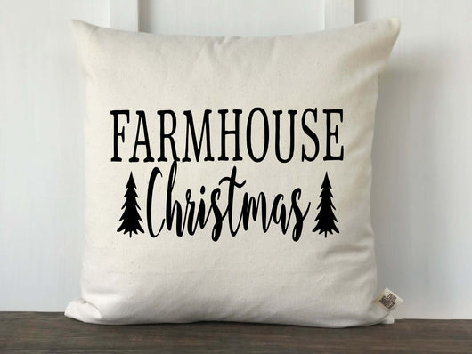 Farmhouse Christmas Pillow Cover - Returning Grace Designs