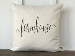 Farmhouse Script Pillow Cover - Returning Grace Designs