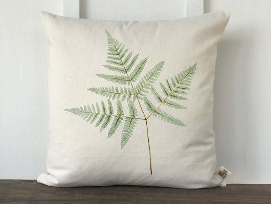 Fern Watercolor Pillow Cover - Returning Grace Designs