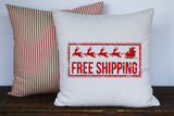 Christmas Sleigh Free Shipping Vintage Graphic Pillow Cover - Returning Grace Designs