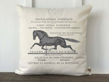 French Horse Encyclopedia Pillow Cover - Returning Grace Designs
