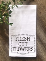 Fresh Cut Flowers Flour Sack Tea Towel - Returning Grace Designs