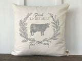 Fresh Dairy Milk Pillow Cover - Returning Grace Designs