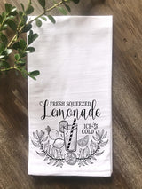 Fresh Squeezed Lemonade Flour Sack Tea Towel - Returning Grace Designs