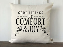 Good Tidings of Comfort and Joy Farmhouse Pillow Cover - Returning Grace Designs