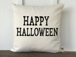 Happy Halloween Vintage Font Pillow Cover