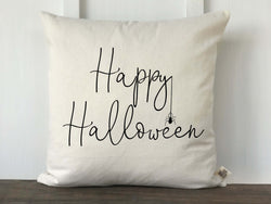 Happy Halloween with Spider Pillow Cover