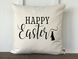 Happy Easter Script Pillow Cover - Returning Grace Designs
