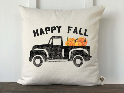 Happy Fall Vintage Truck Pillow Cover - Returning Grace Designs