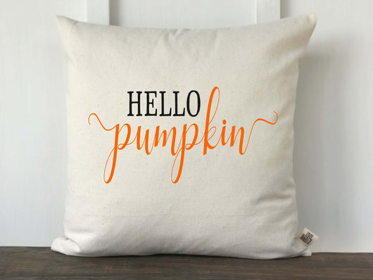 Hello Pumpkin Pillow Cover - Returning Grace Designs