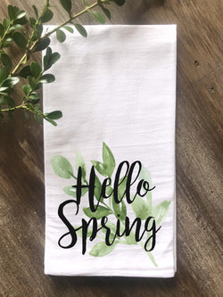 Hello Spring Floursack Towel - Returning Grace Designs
