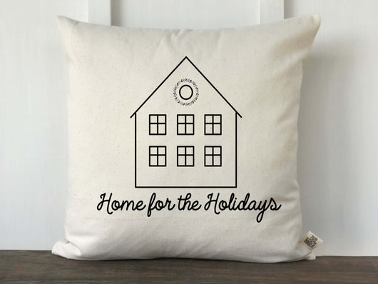 Home For the Holidays Christmas Pillow Cover