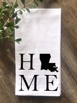 Home State Personalized Flour Sack Towel - Returning Grace Designs