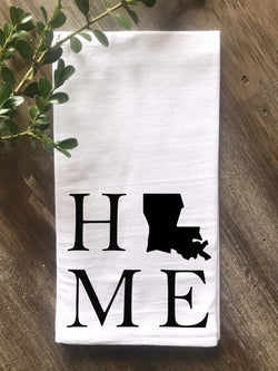 Home State Personalized Flour Sack Towel