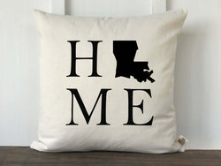 Home State Silhouette Pillow Cover - Returning Grace Designs