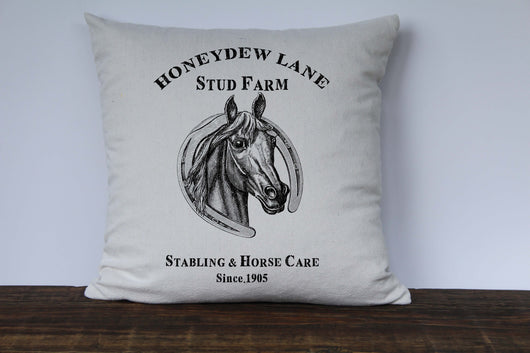 Horse Farm Pillow Cover - Returning Grace Designs