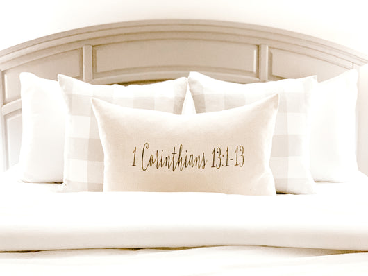 Custom Bible Verse Pillow Cover - Returning Grace Designs
