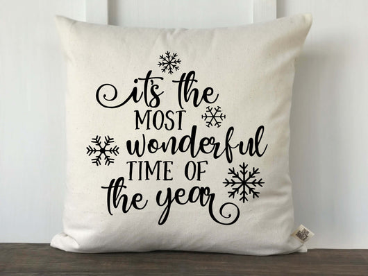 It's the Most Wonderful Time of the Year Christmas Pillow Cover - Returning Grace Designs