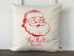 Jolly Vintage Santa Personalized Farmhouse Pillow Cover - Returning Grace Designs