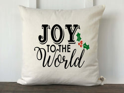 Joy to the World Farmhouse Christmas Pillow Cover - Returning Grace Designs