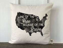 Land of the Free Distressed Pillow Cover - Returning Grace Designs