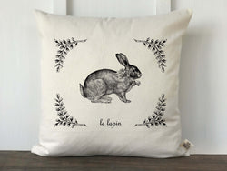Le Lapin French Easter Bunny Pillow Cover - Returning Grace Designs