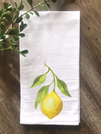 Lemon Floursack Tea Towel - Returning Grace Designs