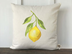 Lemon Watercolor Pillow Cover - Returning Grace Designs