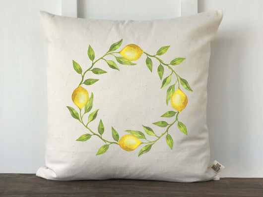 Lemon Wreath Pillow Cover - Returning Grace Designs