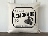 Lemonade Sign Pillow Cover - Returning Grace Designs