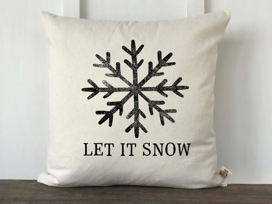 Let It Snow Pillow Cover - Returning Grace Designs