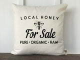 Local Honey For Sale Pillow Cover - Returning Grace Designs