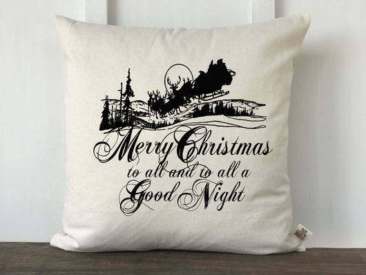 Merry Christmas to All Pillow Cover - Returning Grace Designs