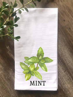 Mint Herb Floursack Towel - Returning Grace Designs