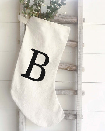 Christmas Stocking - Monogram - Returning Grace Designs
