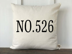 Address Pillow Cover - Returning Grace Designs