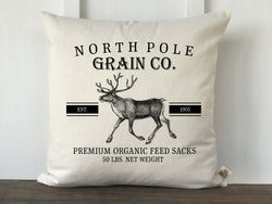 North Pole Grain Co Grain Sack Pillow Cover - Returning Grace Designs
