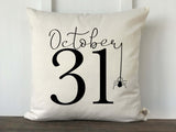 Oct 31 with Spider Pillow Cover
