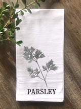 Parsley Herb Floursack Towel - Returning Grace Designs