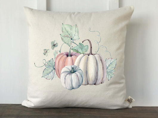 Pastel Pumpkin Trio Farmhouse Fall Pillow Cover - Returning Grace Designs