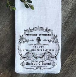 Patisserie Confiserie French Farmhouse Flour Sack Tea Towel - Returning Grace Designs