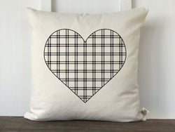 Plaid Heart Pillow Cover - Returning Grace Designs