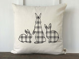Plaid Rabbit Pillow Cover - Returning Grace Designs