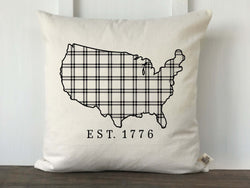 USA Silhouette Plaid Pillow - Returning Grace Designs