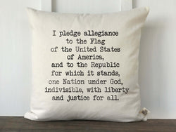 Pledge of Allegiance Typewriter Pillow Cover - Returning Grace Designs